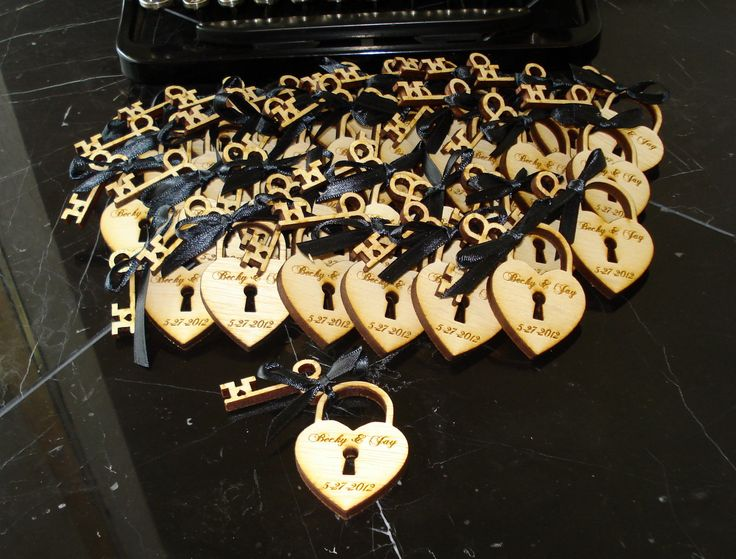 200 Heart and Skeleton Key Wedding Favors. $200.00, via Etsy.