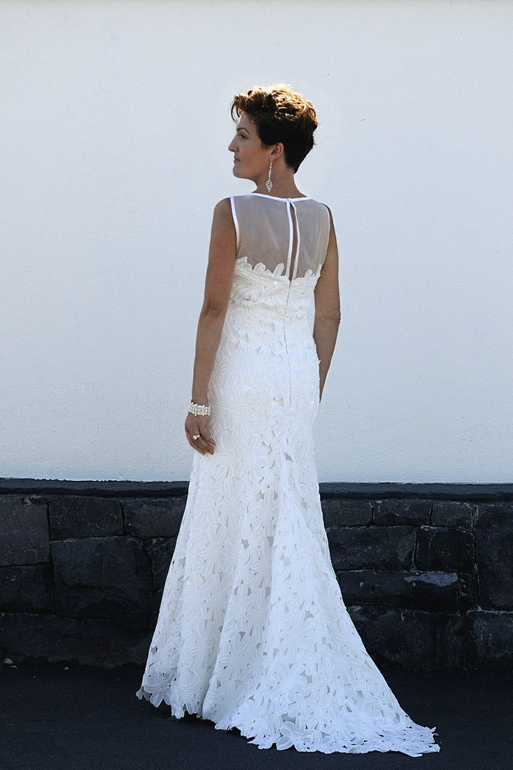 Lace with organza wedding gown. Exclusively by Kate Henry.