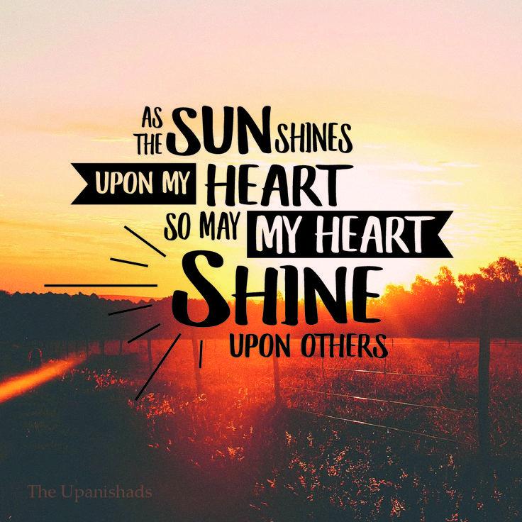 The Upanishads quote: heart shine