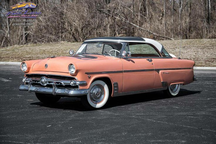 1954 Ford Pink White Crestline Sunliner With Factory Continental Kit