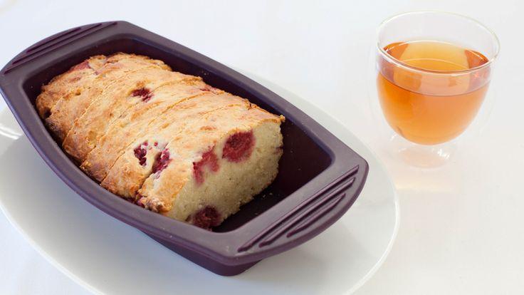 Coconut Yogurt Cake with Raspberries
