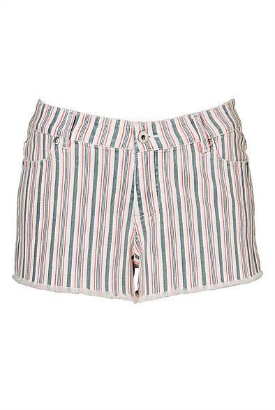 Stripe Denim Short - love stripes! #witcherywishlist
