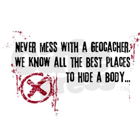 Geocaching - never mess dark red Mug