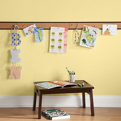 Corkboard rail from Land of Nod: Playrooms Ideas, Corks Railings, Kids Rooms Nursery Playrooms, Kids Rooms Plays, Artworks, Plays Rooms, Straight Corks, Modular Corks, Narrow Corks