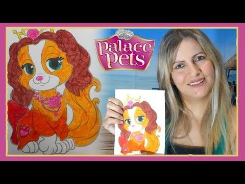 Coloring Teacup Coloring Page Colored Paint Markers | Disney Princess Palace Pets