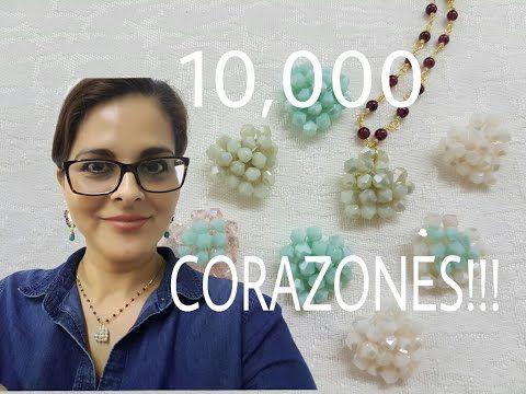COMO HACER UN CORAZON CON CRISTALES! Con Cecy Love Bisuteria - YouTube