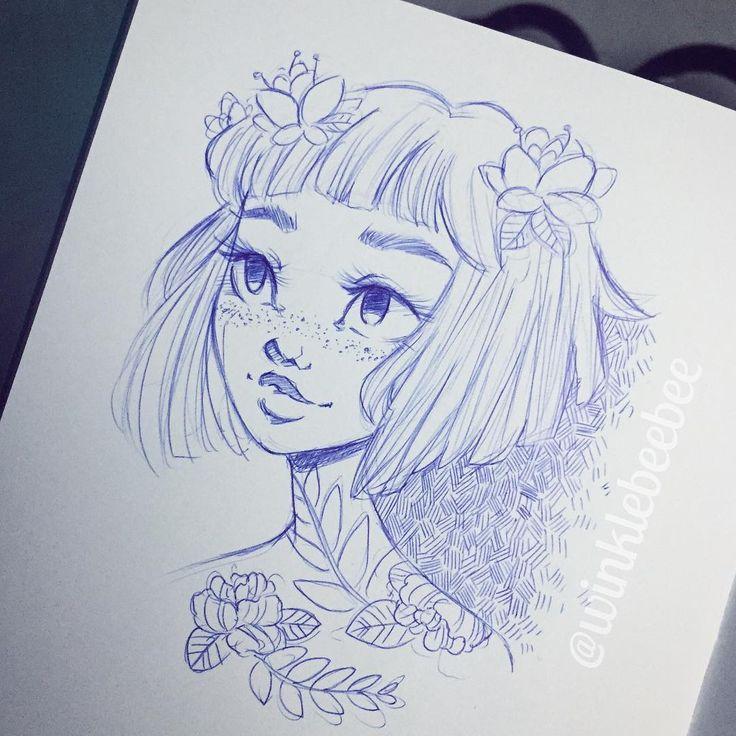 Scribble Drawing Instagram : Best ideas about girl drawings on pinterest pretty