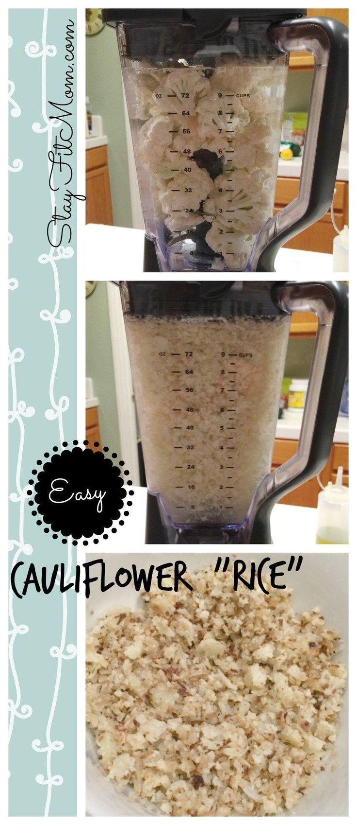 Easiest way to make cauliflower rice out there! You will never make it any other way!