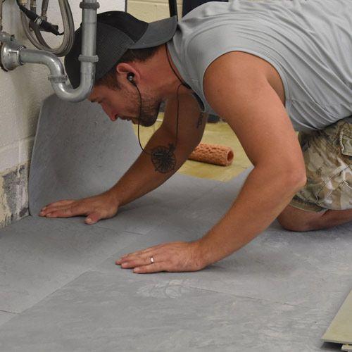 Life Floor Under Sink Installation