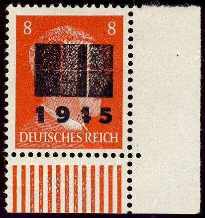 German Local Issue, Netzschkau-Reichenbach 1945, 8 Pfg., Aufdruck Typ II c, untere rechte Bogenecke, postfrisch Pracht, gepr. Zierer BPP (postfr., Mi.-Nr.6 II c/Mi.EUR 160,--). Price Estimate (8/2016): 50 EUR.