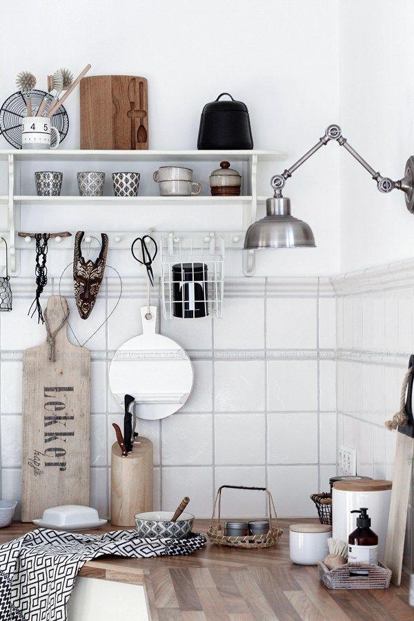 Die besten 25+ Küchenregal weiß Ideen auf Pinterest Moderne - einfach nachgemacht wandgestaltung wischtechnik