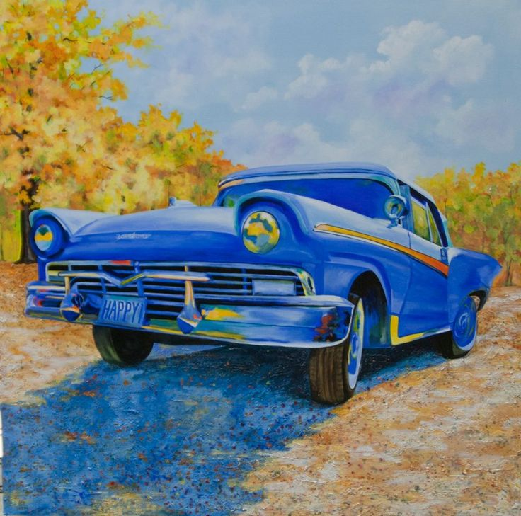 Automobile   Acrylics   New Series ~ Art By Pamla