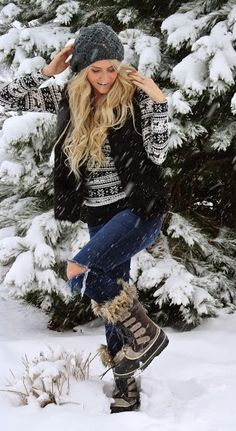women's winter outfits with sorel boots - Google Search