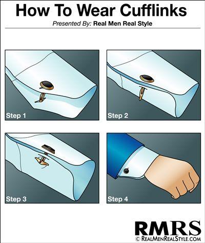 How to Wear Cufflinks #infographic #cufflink #guide