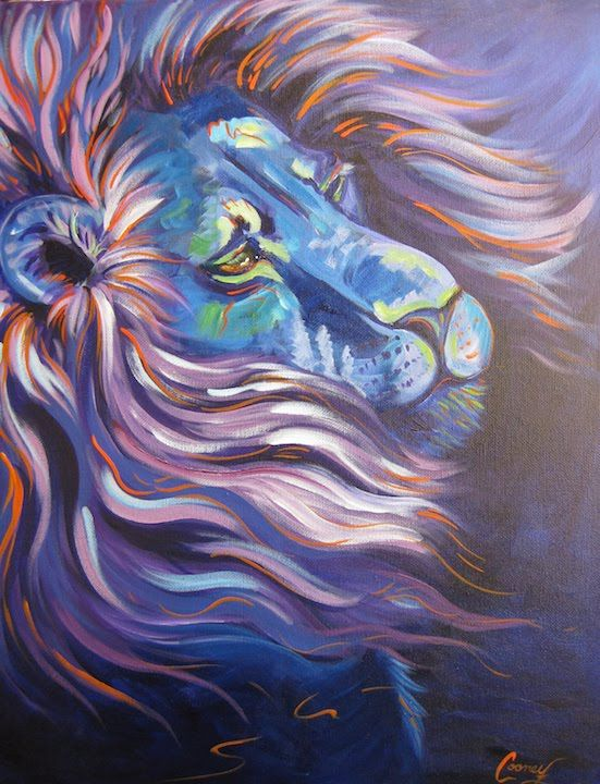 How To Paint Lion In Blue The Art Sherpa Full