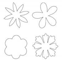 Printable Flower Shaped Template - Printable Templates - Free Printable Activities