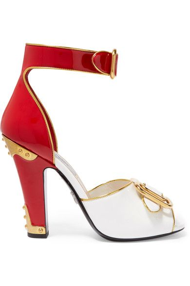 Prada - Embellished Patent-leather Sandals - SALE20 at Checkout for an extra 20% off