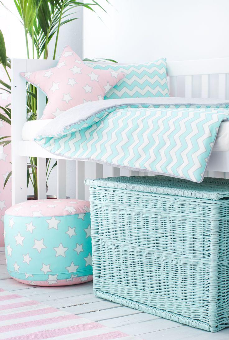 Poduszka ozdobna Pink & Mint Stars