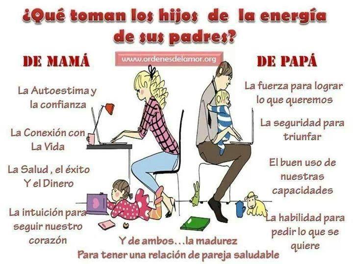 ¿Qué toman los hijos de la energía de sus padres?