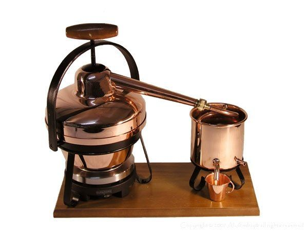Copper Distillers with electric hotplate #distillation #copper #alembic # distiller #essential oil