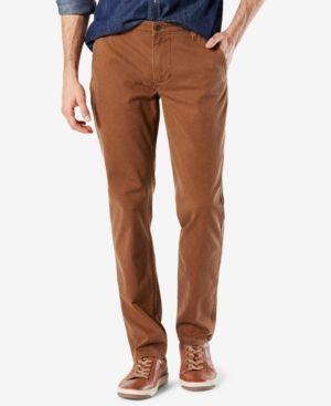 Dockers Men's Stretch Slim Tapered Fit Alpha Khaki Pants - Brown 34x32