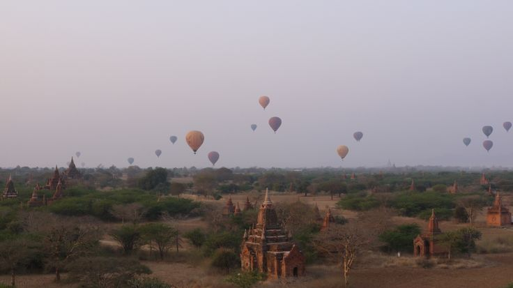 Bagan, every morning, get up for the hot air baloon ascent over the sunrise and temples. - For travel tips and photos http://ajourneyintotheunknown.com