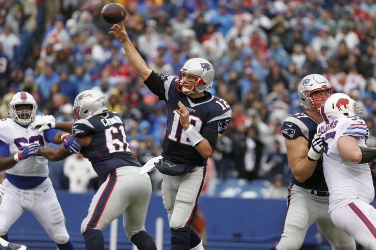 ORCHARD PARK, N.Y. -- So much for Tom Brady ignoring his wide receivers. Brady threw four touchdown passes Sunday, including one each to wideouts Dann