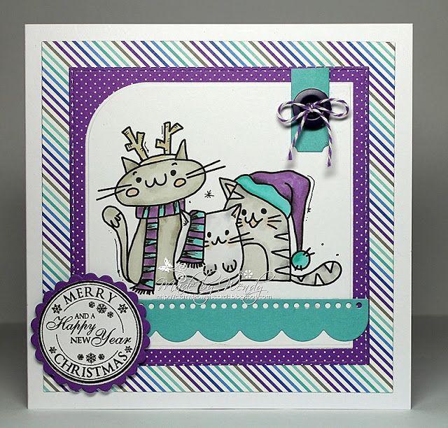 Crazy4flowers cards: Bugaboo Digi Stamps ~ Meowy Christmas Cats