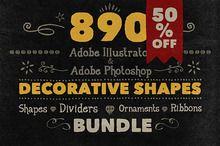 (Sale 50%) 890 Handwritten Shapes