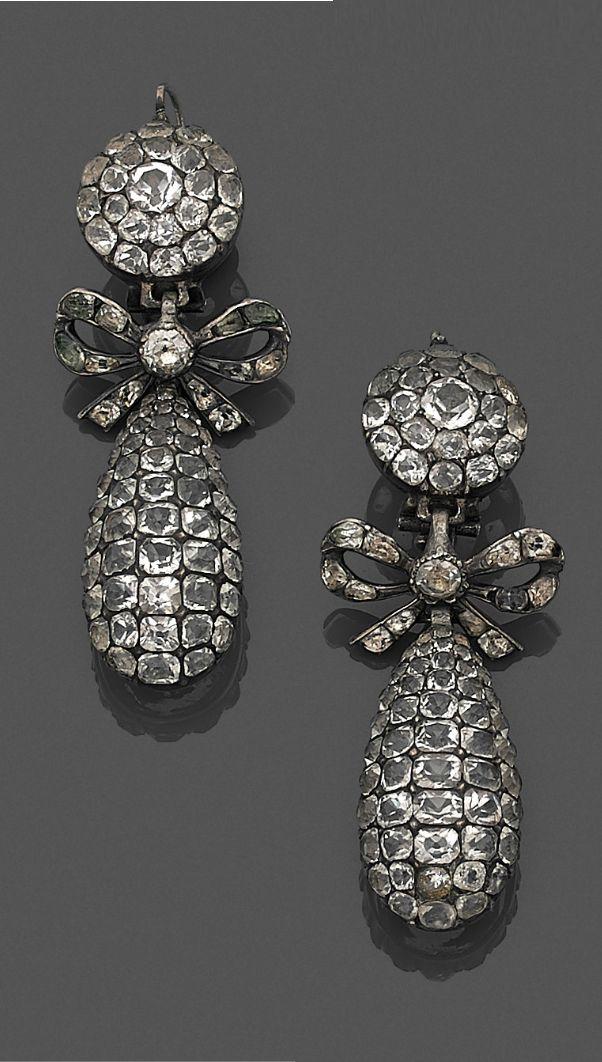 Antique earrings, Portuguese, 19thc