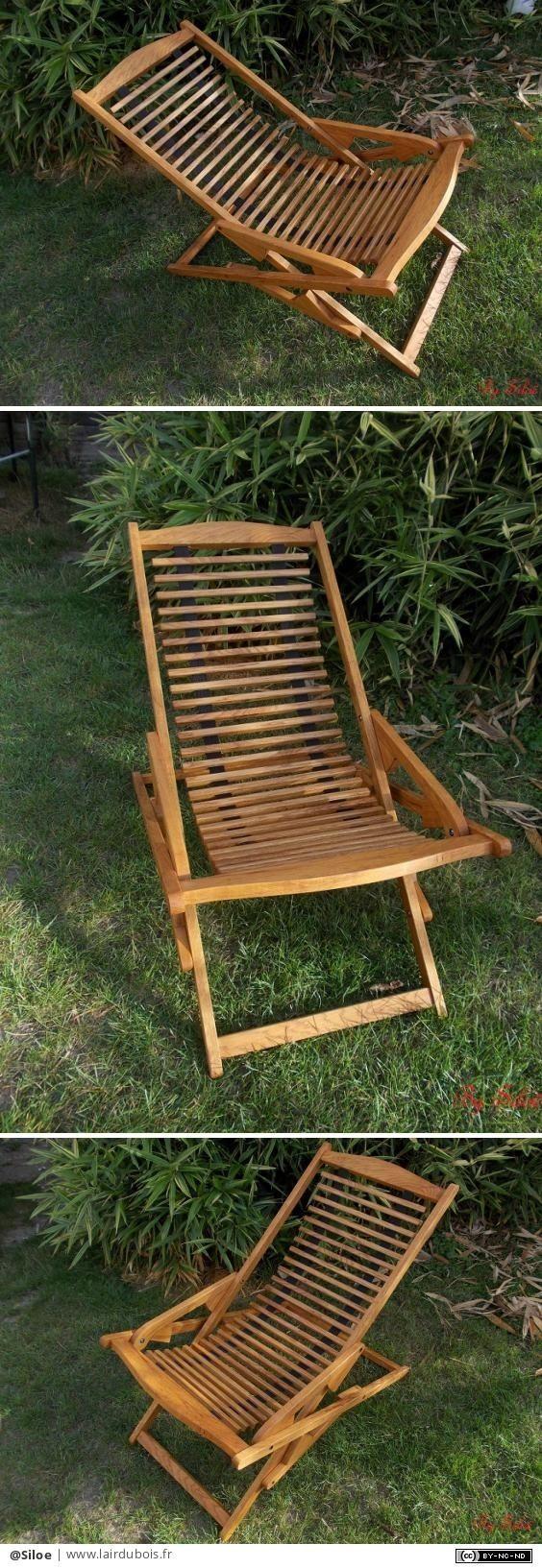 Chaise/fauteuil pliant par Siloe - Chaise ou fauteuil pliant pour usage intérieur ou extérieur, au choix