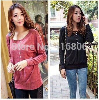 Find More T-Shirts Information about New Fashion Plsu Size Casual Style Scoop Neck Long Batwing Sleeve Solid Color Loose Fitting Women's T Shirt Autumn Winter Top,High Quality t-shirt dry,China winter camel Suppliers, Cheap winter comforter from Chinabestdeals on Aliexpress.com