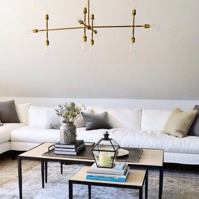 Simplicity makes a bold statement. I love the design of the brass light fixture and the way it looks against the white background. #homestead regram from @jifestyle