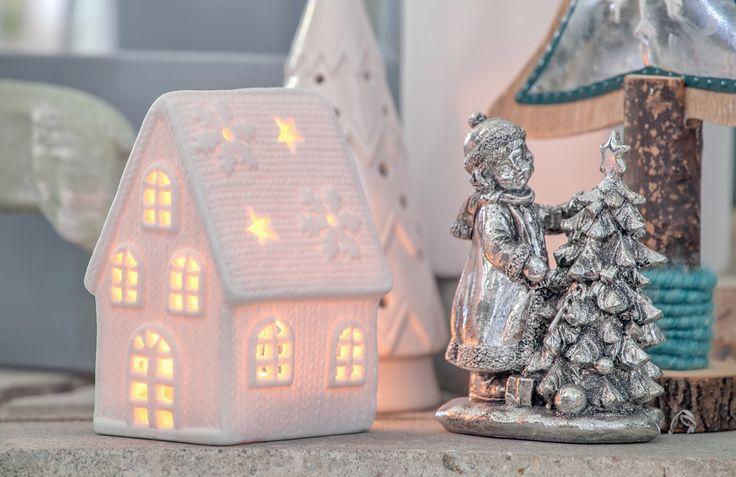 Lampion porcelanowy - domek