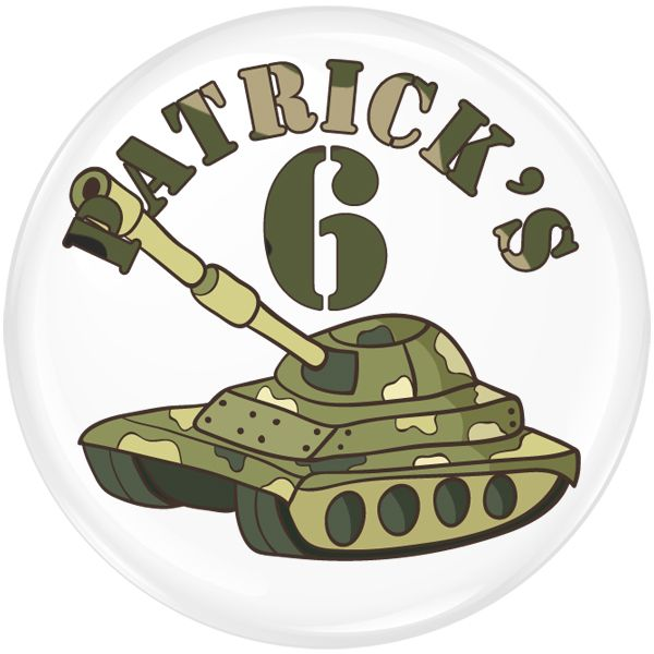 Army Personalised Birthday Party Badge #427
