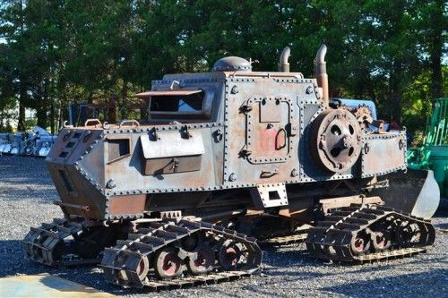 """Steampunk Zombie Apocalypse Survival Vehicle. (Since I saw the word """"Steampunk"""" on a display at Michael's crafts, I hereby declare the term unofficially dead. However, this kind of...rocks.)"""