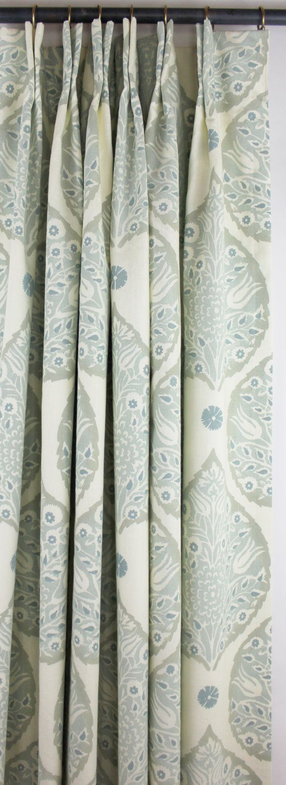 Galbraith & Paul Lotus Drapes - for you to get an idea of what pattern would look like as drapes, but would not recc this color way