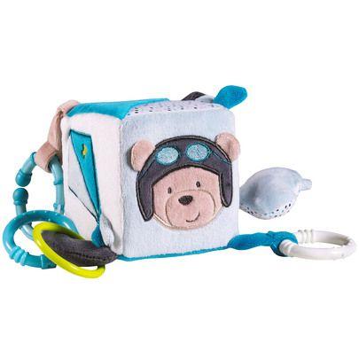 Lazare cube d'activités Bleu de Sauthon Baby Déco