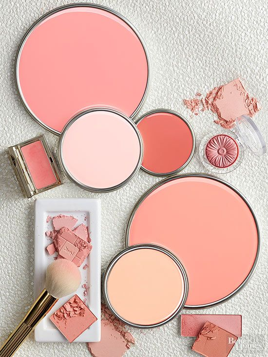 The Inspiration: Blush From top: Coral Pink, Ballet Slipper, Coral Reef, Chit Chat, and Coral Peach