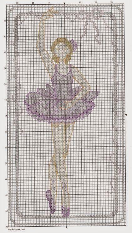 Ballerina free cross stitch pattern