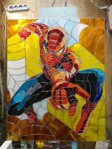 "Stained glass picture ""Spider man """