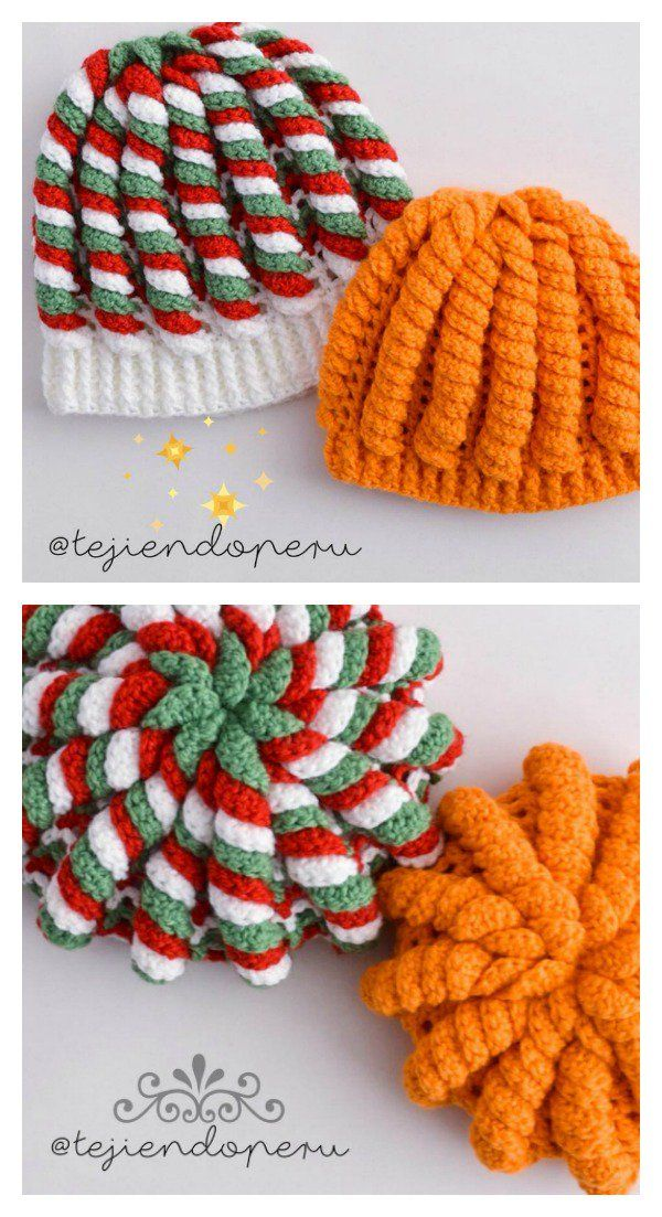 Crochet 3D Serpentine Stitch Hat Video Tutorial  92b593d6406