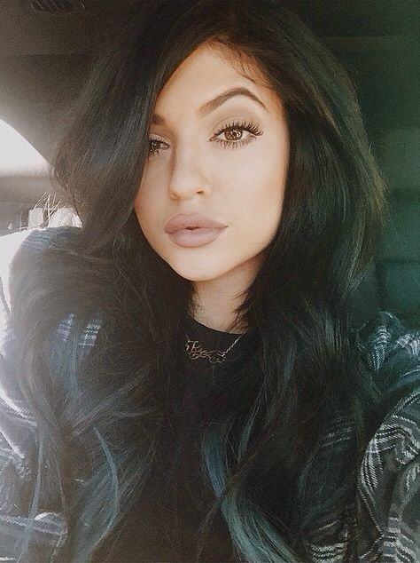add a caption beautiful,  throwback  #kylizzle -  thin  #eyes -  #hair  #kyliejenner  #lipstick,  #shoes