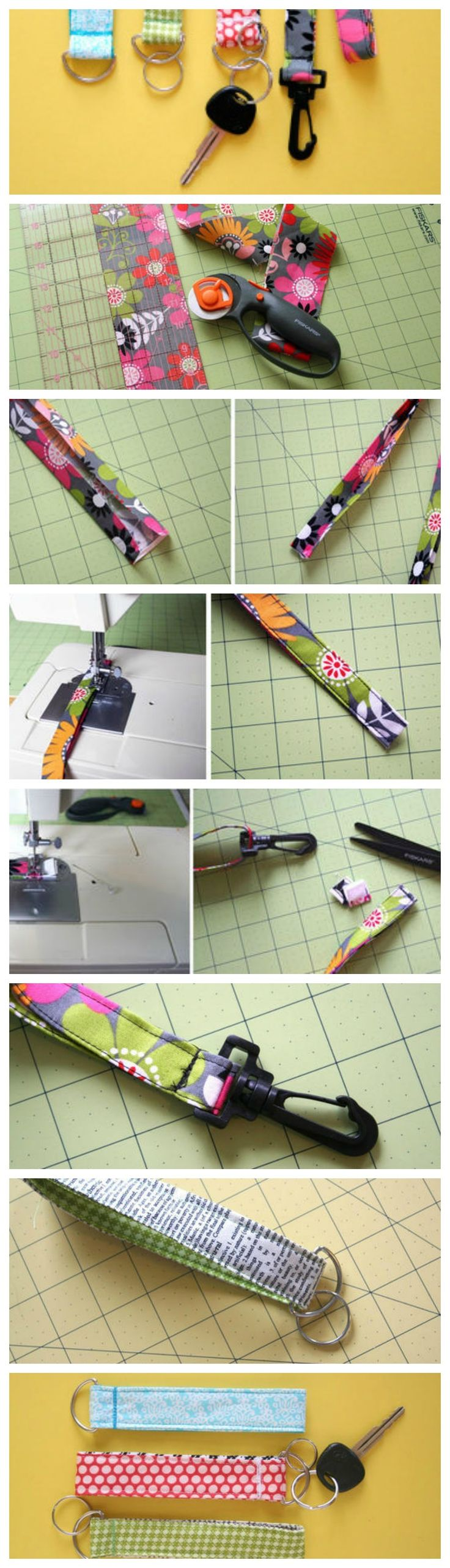 Super Easy Lanyard and Key Chain Wristlet - How to make a keychain.