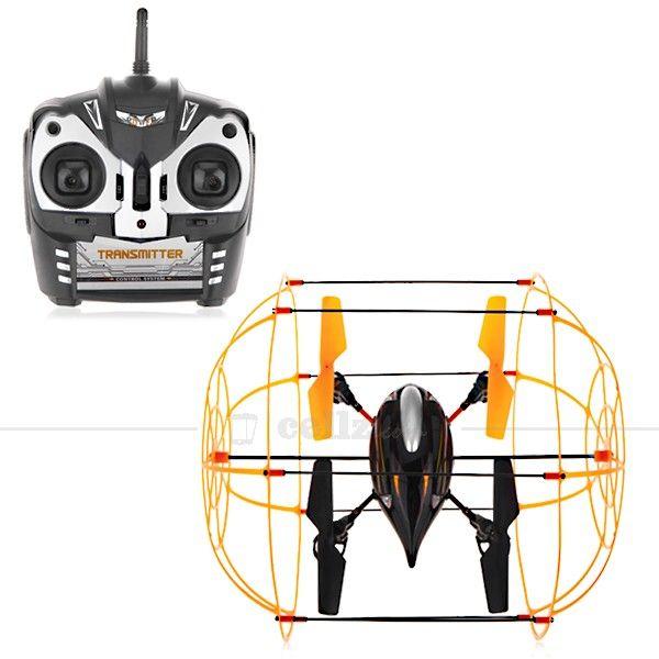 Four Airfoil Aircraft - Gyroscope - Black Yellow #airfoil #aircraft #gyroscope #cellz #toy