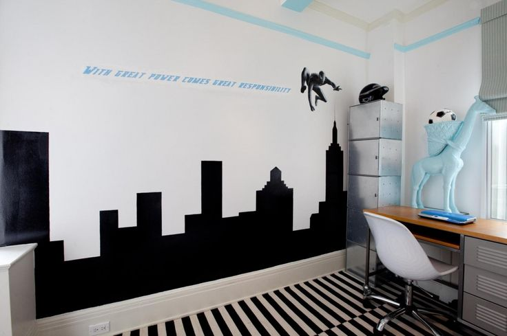 10 Very Cool Little Boys Bedroom Decor Ideas, Cool Little Boy Room With Spiderman Decals