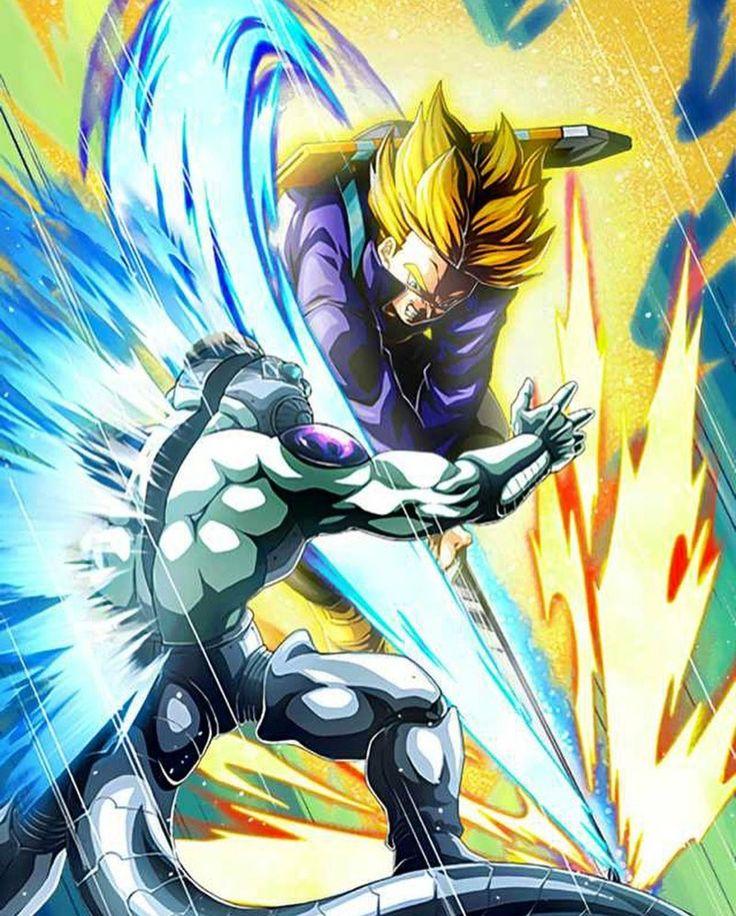 Trunks Kills Frieza Anime Dragon Ball Super Dragon Ball Artwork Dragon Ball Art
