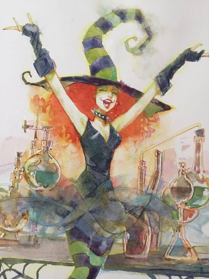 Jill Thompson's Scary Godmother by Bill Sienkiewicz *                                                                                                                                                                                 More
