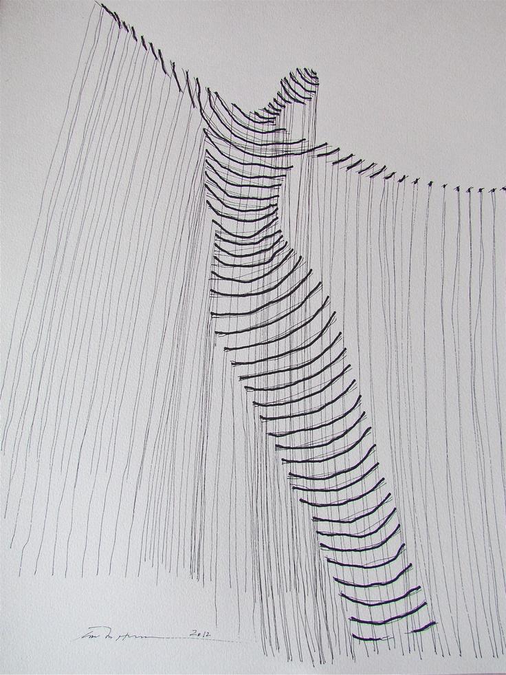 Åse Margrethe Hansen. Ink drawing, 2012