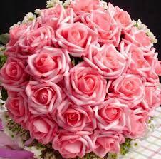 Hasil gambar untuk rangkaian bunga mawar merah muda